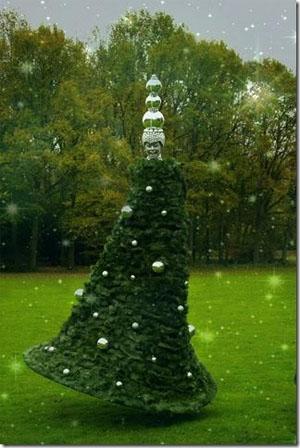 Steltloper Kerstboom Huren Kerstboomartiest Eindhoven