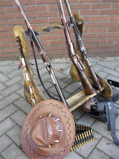 cowboy pistool met holster carnaval