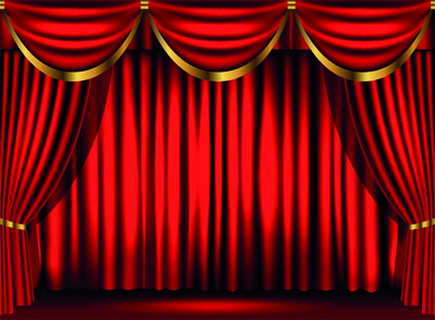 rood gordijn backdrop showdoek showtime decordoek huren