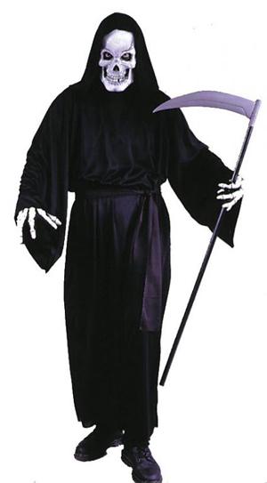 Halloween Kostuum Magere Hein.De Dood Kostuum Huren Magere Hein Pak Zonder Zeis