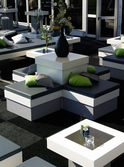 Witte loungemeubelen huren grijswit kopen - Meubilair loungeeetkamer ...